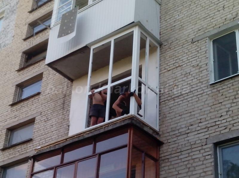 Порядок монтажа французского балкона в хрущевке харьков фото.