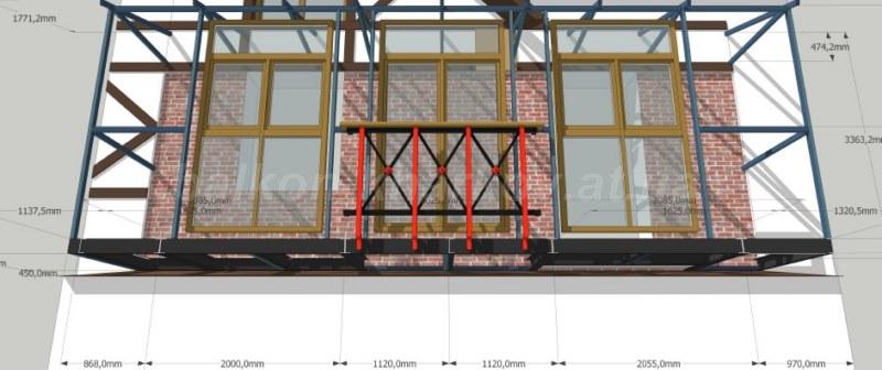 Изготовление проекта на балкон