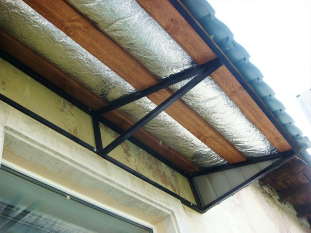 Модульная крыша с металлочерепицы с утеплением