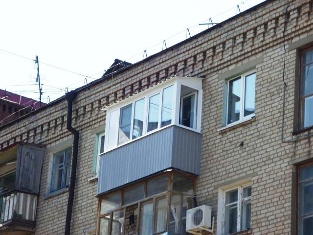 Каркасная крыша по п-обр. раме