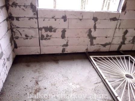 Заливка плиты