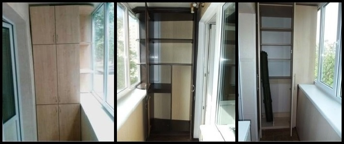 Шкаф с боковыми полочками