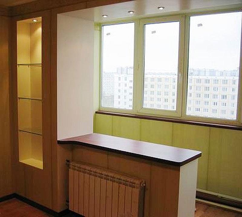 Ремонт соединение комнаты с балконом.